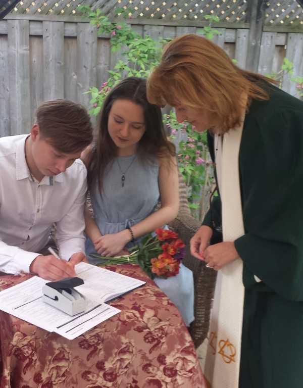 Click to Enlarge Irena's and Anton's  Wedding Photo
