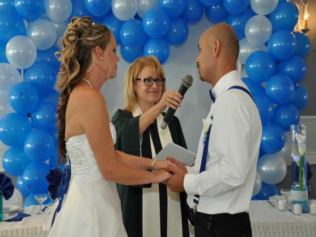 Click to Enlarge Cynthia's and Douglas' Wedding Photo